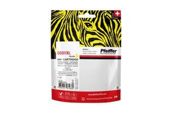 Pfeiffer Printer Cartridge, compatible with Canon CLI-651XLY Yellow, PFIC651XY