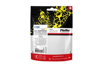 Pfeiffer Printer Cartridge, compatible with Epson 133 Yellow, PFIE133Y