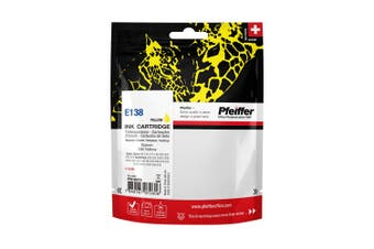 Pfeiffer Printer Cartridge, compatible with Epson 138 Yellow, PFIE138Y