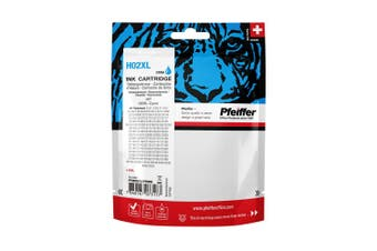Pfeiffer Printer Cartridge, compatible with HP 02XL Cyan (remanufactured), PFIH002XCR