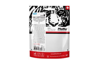 Pfeiffer Printer Cartridge, compatible with HP 21 Black (remanufactured), PFIH021BR
