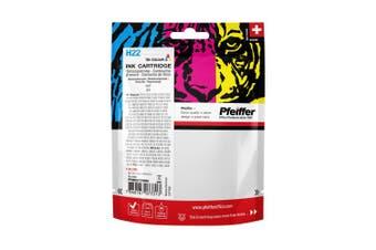 Pfeiffer Printer Cartridge, compatible with HP 22 Tri-Colour (remanufactured), PFIH022TR
