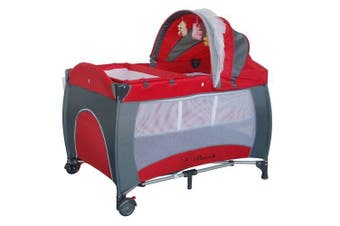 BABY PORTABLE TRAVEL COT BASSINET FOLDABLE PLAYPEN PORTACOT