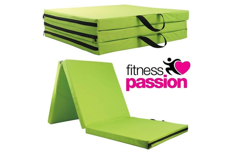 FOLDING EXERCISE FLOOR MAT DANCE YOGA GYMNASTICS TRAINING JUDO PILATES - GREEN