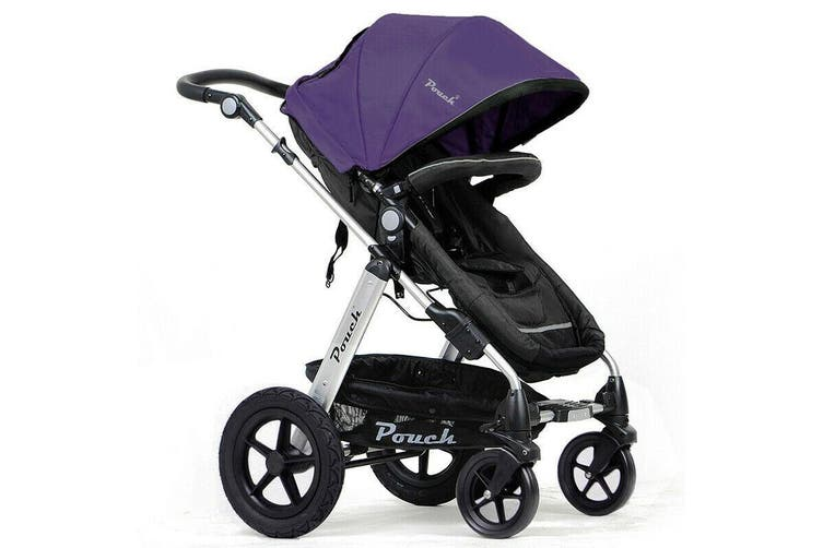 NEW 2 IN 1 BABY TODDLER PRAM STROLLER JOGGER ALUMINIUM WITH BASSINET - Purple