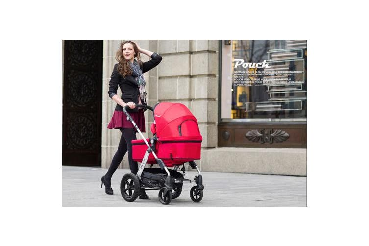 NEW 2 IN 1 BABY TODDLER PRAM STROLLER JOGGER ALUMINIUM WITH BASSINET - Purple