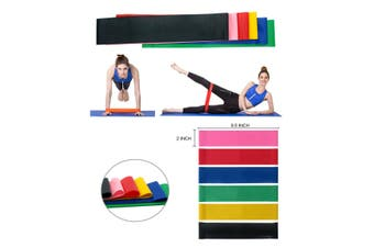 Heavy Duty Resistance Training Band Loop Power GYM Fitness Exercise Yoga 6PS Set