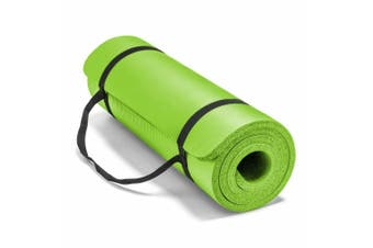 15MM Thick Yoga Mat Non-slip Exercise Fitness Gymnastic Mat Lose Weight Pad-Lime