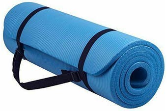 15MM Thick Yoga Mat Non-slip Exercise Fitness Gymnastic Mat Lose Weight Pad-Sky Blue