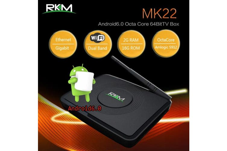 RKM MK22 Qcta Core 64bit 4K Android 6.0 mini PC 2G/16G,Dual band wifi, BT4.0