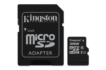 KINGSTON  Canvas Select:MicroSD 32GB , 80MB/s read and 10MB/s write with SD adapter SDCS/32GB