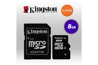 kingston 8GB Micro SD Class 4 with standard SD adaptor (KINSDC4/8GB)