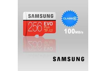 SAMSUNG 256GB UHS-I Plus EVO CLASS 10 U3 4K without SD ADAPTER 100R/90W MB-MC256G