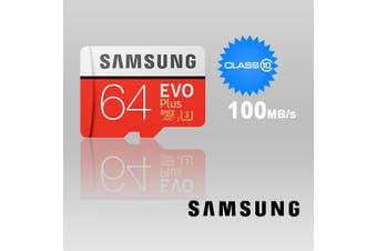 SAMSUNG 64GB UHS-I Plus EVO CLASS 10 U3 4K Without ADAPTOR 100R/60W MB-MC64G