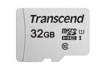 TRANSCEND TS32GUSD300S 32GB UHS-I U1 microSD w/o Adapter  (microSDHC I, C10, U1)