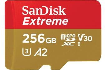 SANDISK SDSQXA1-256G-GN6MN  MicroXD  Extreme A2 V30 UHS-I/U3 160R/90W  NO SD ADAPTER
