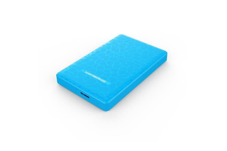 Simplecom SE101 Compact Tool-Free 2.5'' SATA to USB 3.0 HDD/SSD Enclosure Blue
