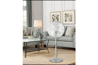 Digilex 16 Inch 4 Aluminium Blades Pedesta Fan Chrome Color