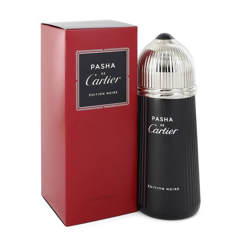 Cartier Pasha de Cartier Edition Noire 150ml EDT (M) SP Cartier Pasha de Cartier Edition Noire 150ml EDT (M) SPTop notes of the new fragrancePasha de Cartier Edition Noireprovide freshness in green and fresh citruses, balanced perfectly with warm and cuddly aromas of woody amber and cedar accords.
