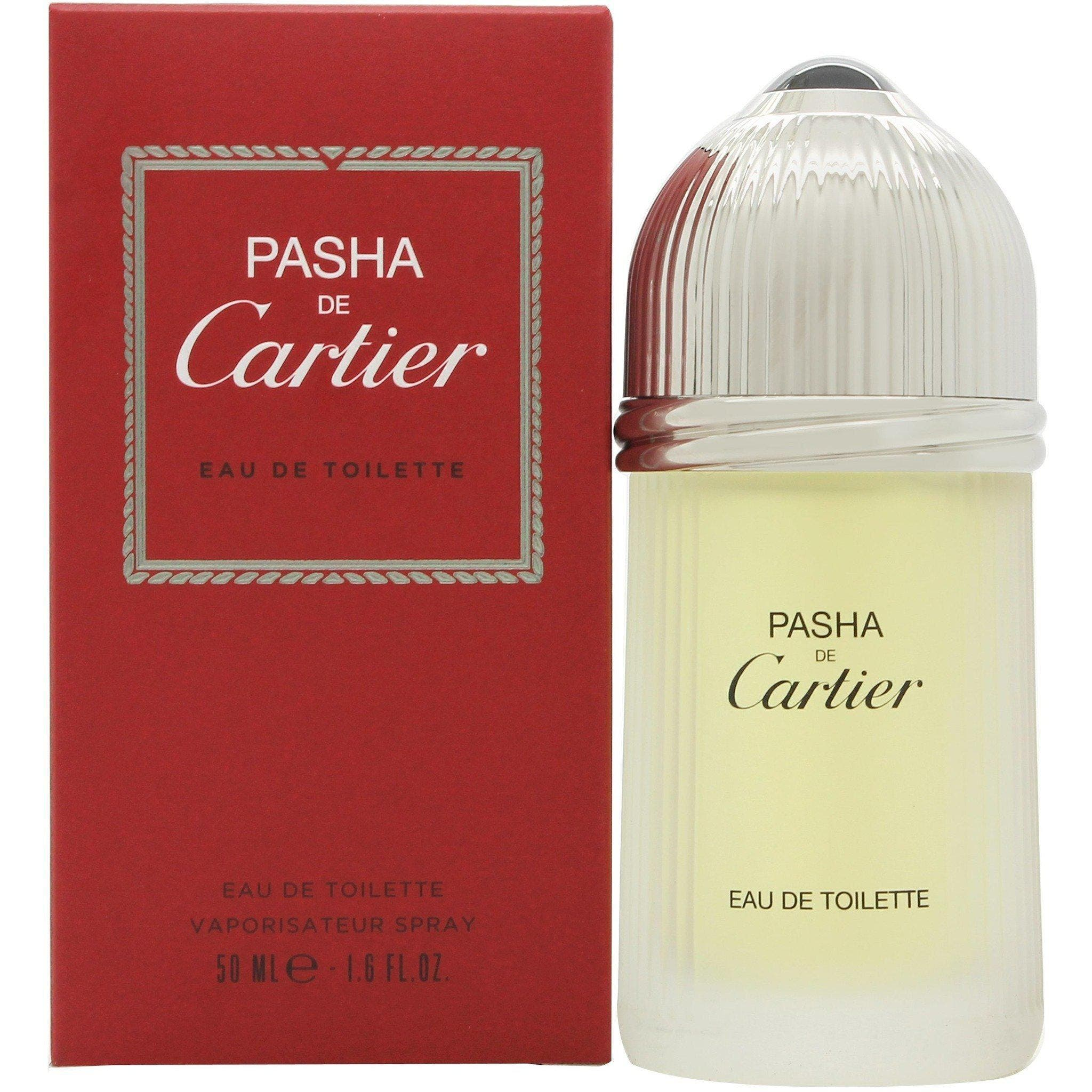 Cartier Pasha De Cartier 50ml EDT (M) SP Pasha de CartierbyCartieris a Woody Aromatic fragrance for men.Pasha de Cartierwas launched in 1992. The nose behind this fragrance isJacques Cavallier. Top notes are lavender, mandarin orange, mint, caraway and anise; middle notes are coriander and brazilian rosewood; base notes are labdanum, sandalwood, patchouli and oakmoss.