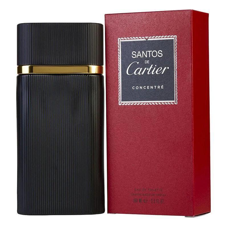 Cartier Santos De Cartier Concentre 100ml EDT (M) SP Cartier Santos De Cartier Concentre 100ml EDT (M) SPThe fragrance features bergamot, lemon verbena, basil, geranium, nutmeg, chili pepper, patchouli, sandalwood, amber and lavender.