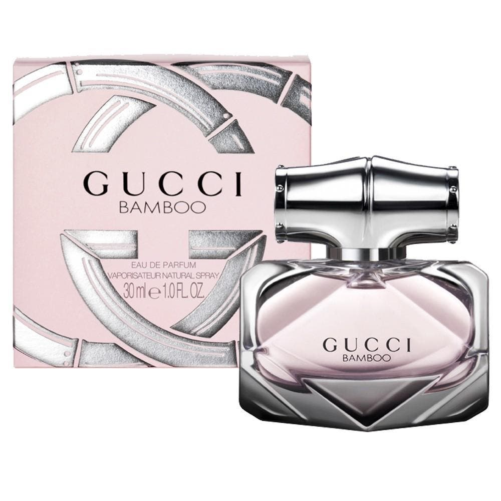 Gucci Gucci Bamboo 30ml EDP (L) SP Gucci Gucci Bamboo 30ml EDP (L) SPGucci Gucci Bamboo 30ml EDP (L) SPis a fragrance for the modern woman. Gucci Bamboo is powerful yet feminine. Top notes are bergamot. Heart notes are Casablanca lily and ylang ylang extra-Comoros. Base note is of sandalwood.