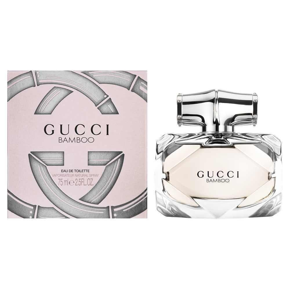 Gucci Gucci Bamboo 75ml EDT (L) SP Gucci Gucci Bamboo 75ml EDT (L) SPIt opens with citrusy accords of bergamot leading to the exotic floral heart of ylang-ylang, Casablanca lily and orange blossom. Intense notes of sandalwood, Tahitian vanilla and amber form the base.