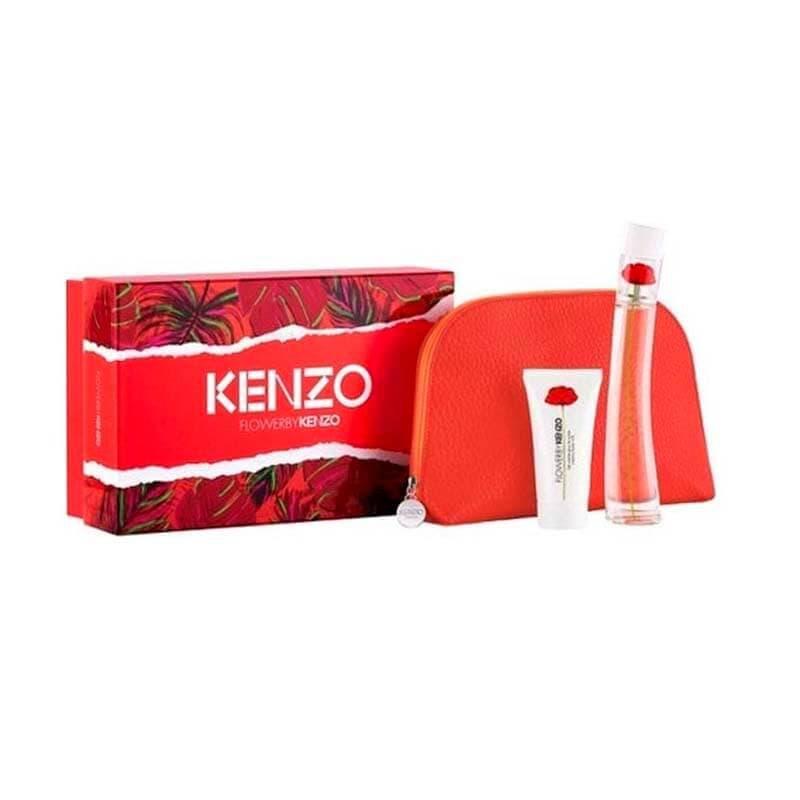 Kenzo Flower By Kenzo 3pc Beauty Set 50ml EDP (L) Kenzo Flower By Kenzo 3pc Beauty Set 50ml EDP (L)50ml EDP (L) SP + 50ml Creamy Body Milk + Beauty Pouch