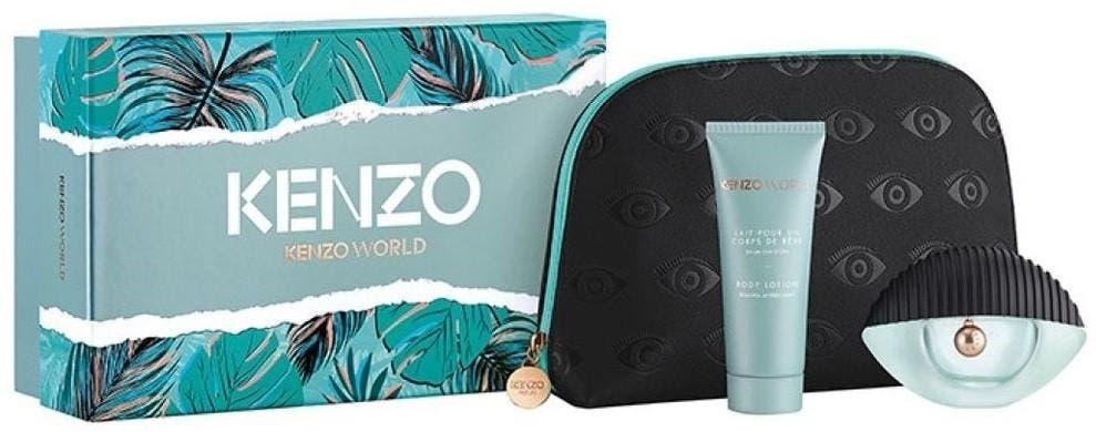 Kenzo Kenzo World 3pc Set 50ml EDP (L) KenzoKenzo World 3pc Set 50ml EDP (L)50ml EDP Spray + 75ml Body Lotion + Beauty Pouch