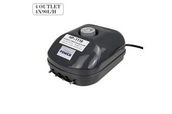 4 Outlet 360L/H 13W Aquarium Air Pump
