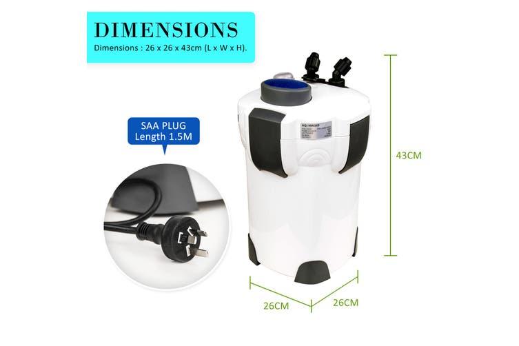 1400L/H UV Light Aquarium Canister Filter + Media Kit