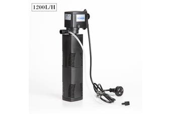 1200L/H 8W 1.6m Aquarium Submersible Filter Pond Pump