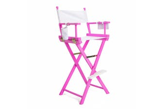 77cm Tall Director Chair - PINK HUMOR