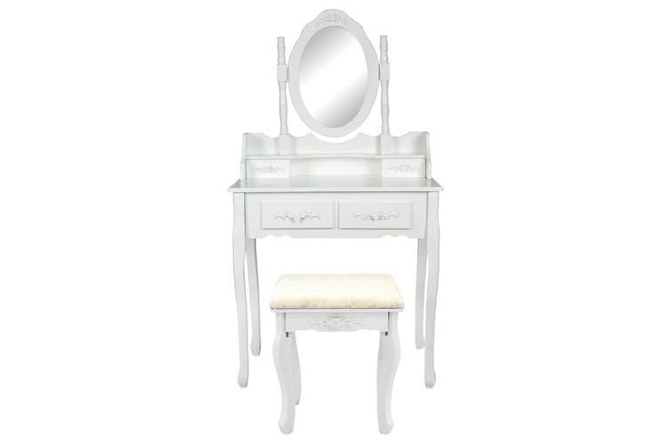 1 Mirror 4 Drawers Dressing Table - ANGELLA WHITE