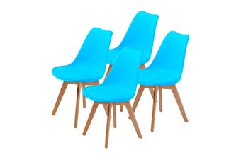 4X Padded Seat Dining Chair - BLUE