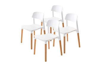 4X Belloch Stackable Dining Chair - WHITE