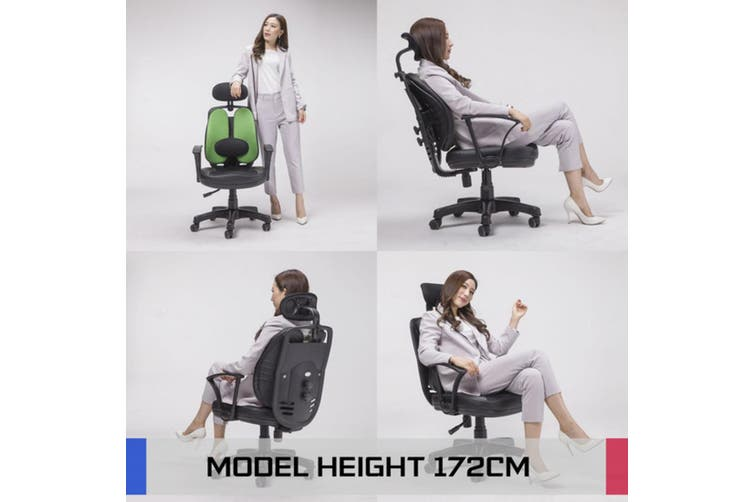 Korean Office Chair SUPERB - GREEN