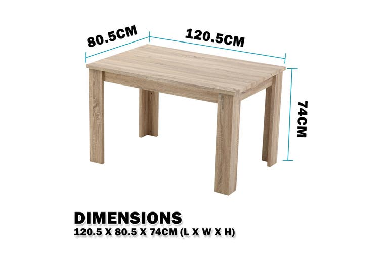 Wooden Dining Table Erica - LIGHT BROWN