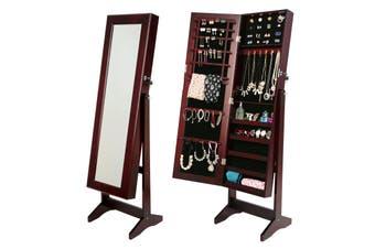 146cm Mirror Jewellery Cabinet LUVO - WALNUT
