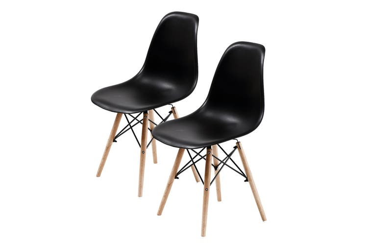 2X DSW Dining Chair - BLACK