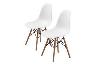 2X DSW Dining Chair - WHITE