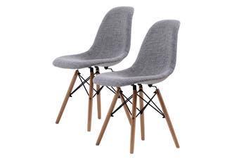 2X DSW Dining Chair Fabric - GREY
