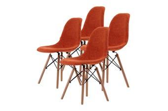 4X DSW Dining Chair Fabric - ORANGE