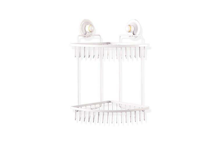 Double Corner Shelf - WHITE