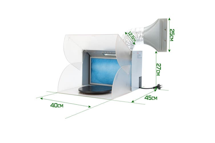 Portable Air Brush Spray Booth with LED
