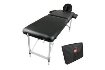 55cm Aluminium Portable Massage Table - BLACK