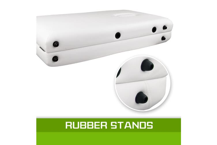 55cm Aluminium Portable Massage Table - WHITE
