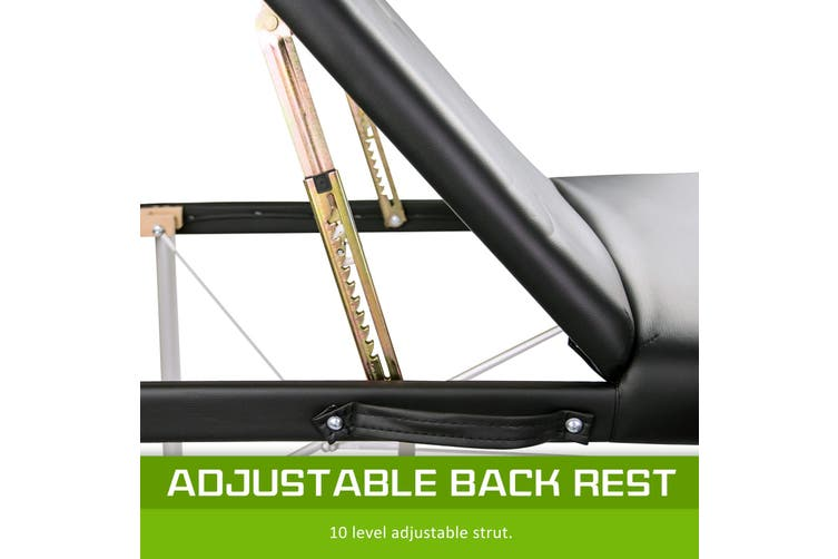 70cm Aluminium Portable Massage Table - BLACK