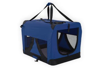 XXXL Portable Soft Dog Crate - BLUE