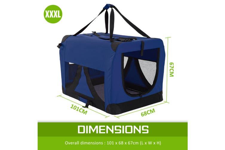 XXXL Portable Soft Dog Crate - BLUE